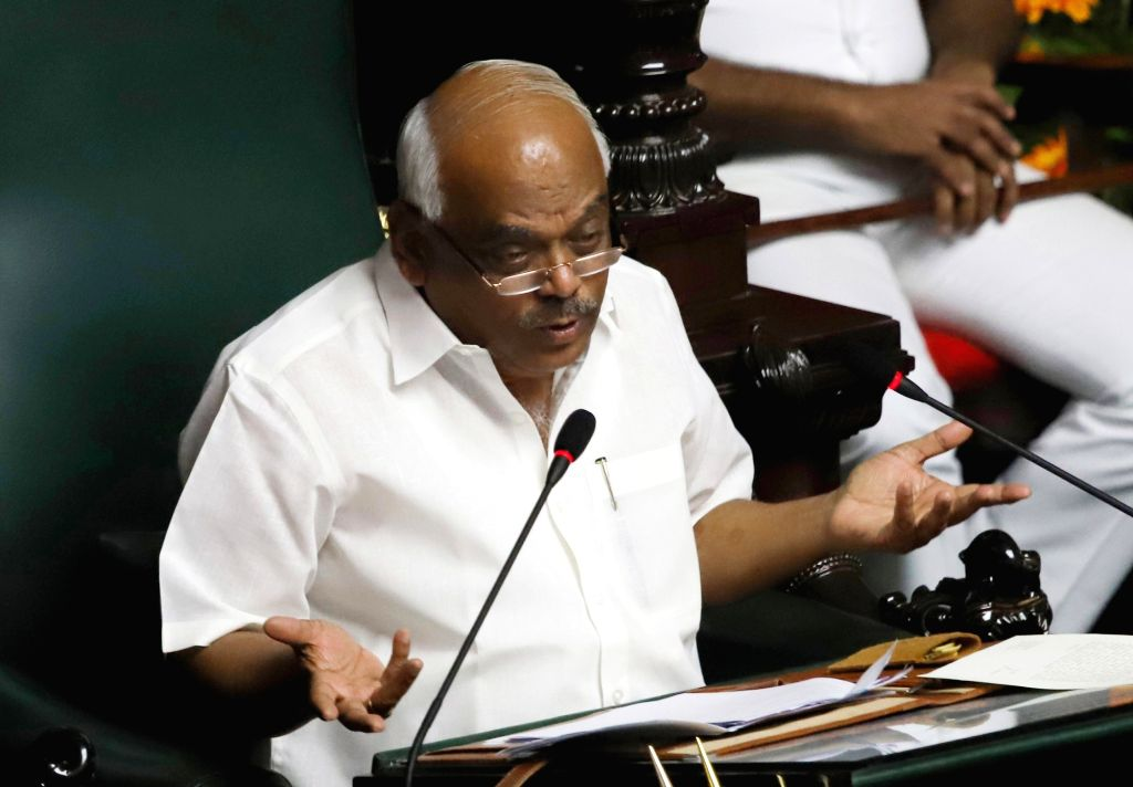 Karnataka Legislative Assembly Speaker KR Ramesh Kumar during the discussion on audiogate controversy at the Assembly Session at Vidhana Soudha, in Bengaluru on Feb 11, 2019. - Ramesh Kumar
