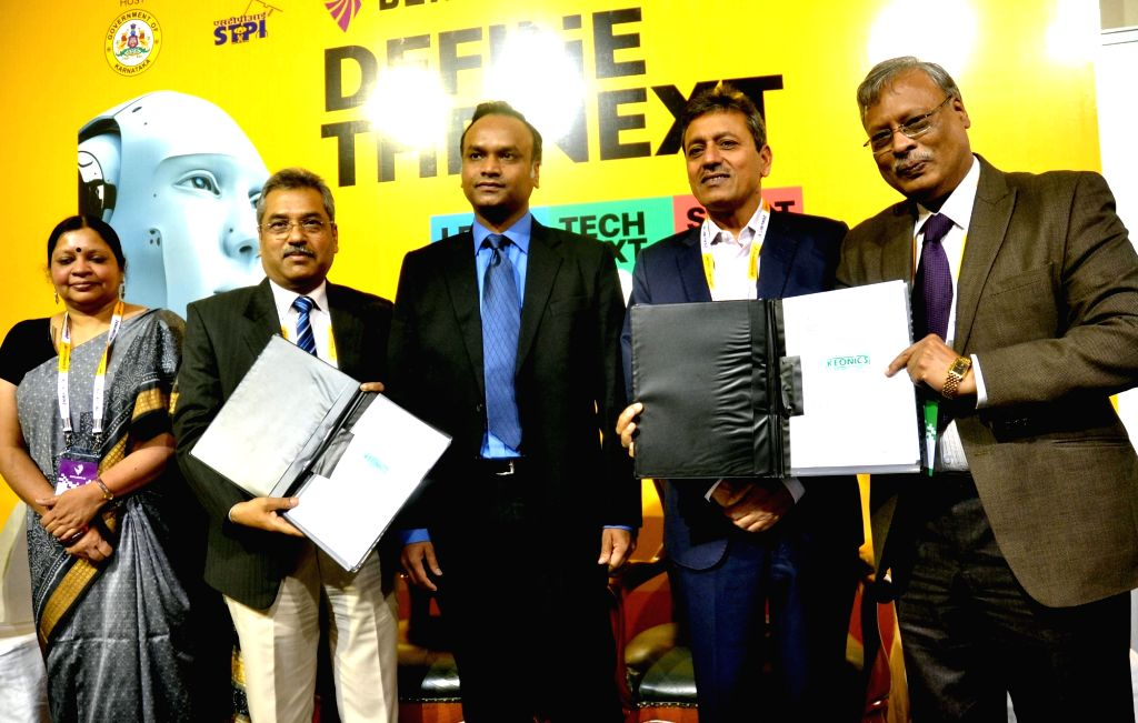Karnataka Minister for IT BT and Tourism Priyank Kharge, Principal Secretary, Department of IT BT V Manjula,  Director General Software Technology Parks Dr Omkar Rai, Karnataka BSNL CGM P ... - Omkar Rai