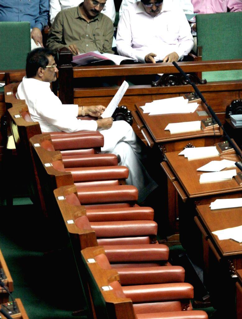 Karnataka Minister KJ George during Assembly Session at Vidhana Soudha in Bengaluru on July 18, 2016. - K