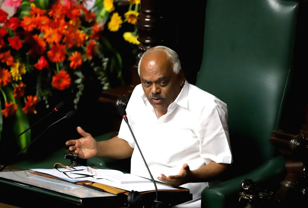 Karnataka Speaker Ramesh Kumar in the state assembly where Chief Minister HD Kumaraswamy moved motion of confidence in Bengaluru on July 18, 2019. - Ramesh Kumar