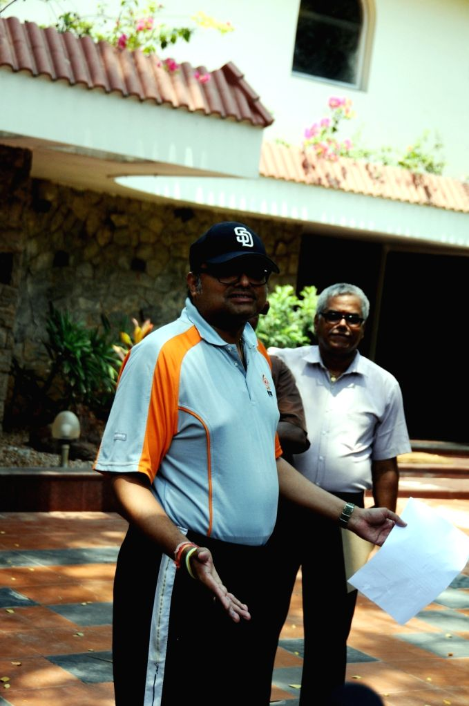Karti Chidambaram at his residence in Chennai on May 16, 2017. Karti Chidambaram is facing money laundering probe linked to the dubious Aircel-Maxis deal.