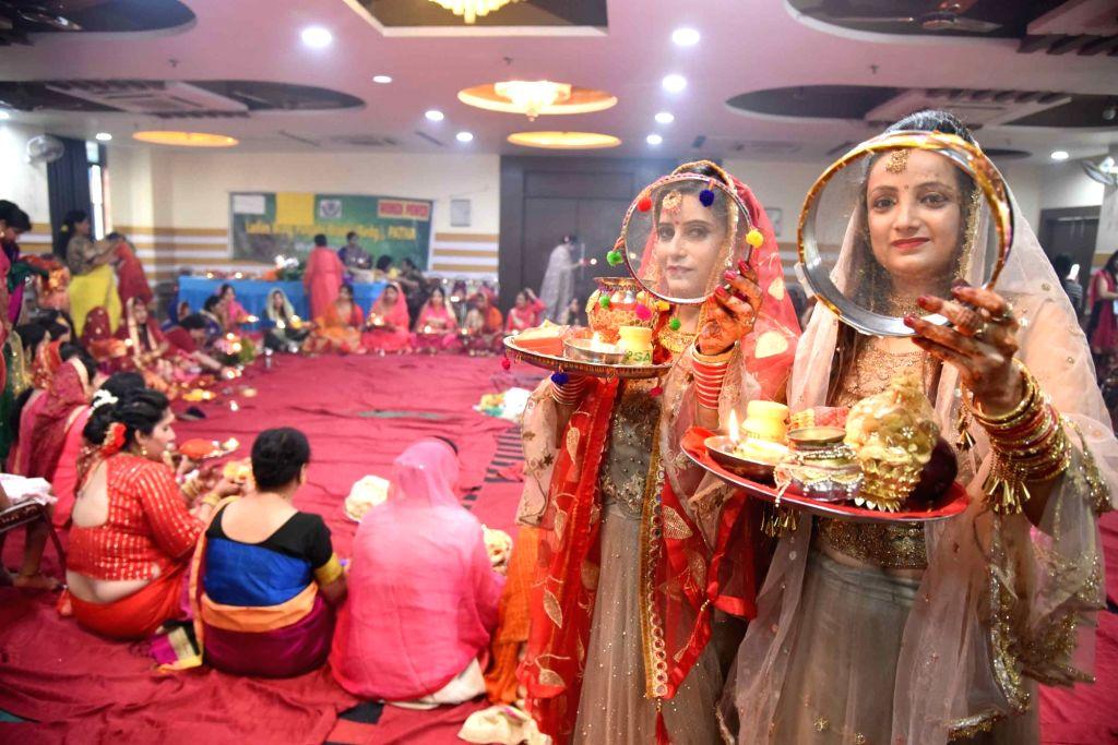 Karva Chauth celebrations underway in Patna on Oct 17, 2019.