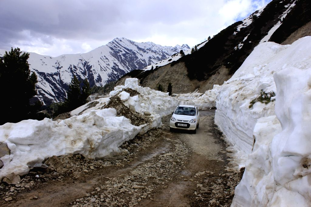 A view of the Mughal Road that connects Poonch and Shopian of Jammu and Kashmir.