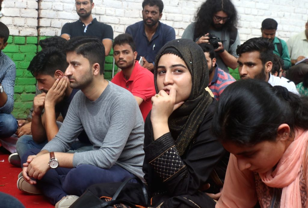 Kashmiris living in Delhi stage a silent protest as they could not celebrate Eid-ul-Adha with their families; on Aug 12, 2019.
