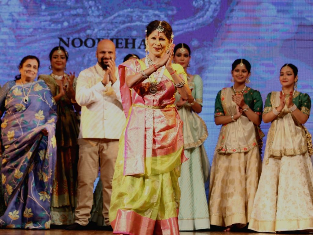 Kathak danseuse Shovana Narayan performs during a musical evening at Triveni Kala Sangam in New Delhi on Aug 27, 2019.