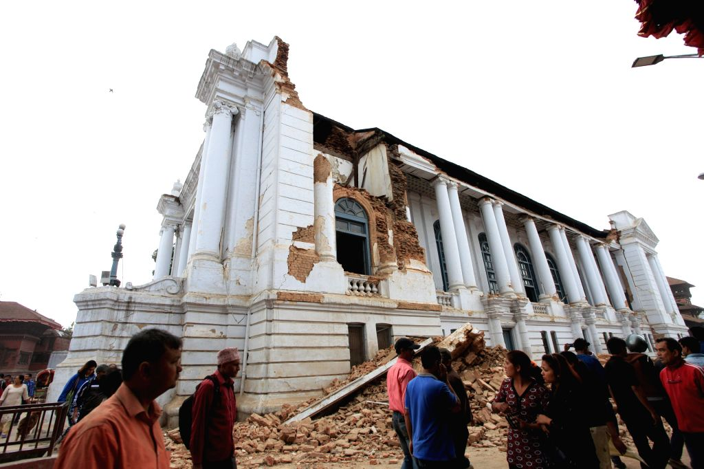 Hanumandhoka is ruined after earthquake in Kathmandu, Nepal, April 25, 2015. More than 100 people are so far known to have been killed in a strong earthquake ...