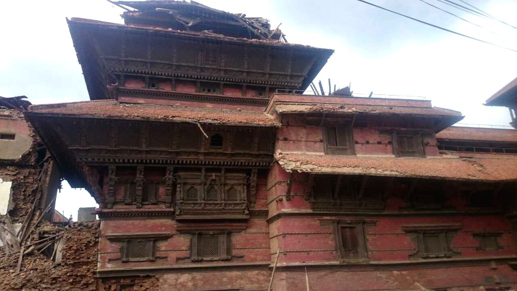 Buildings are damged after earthquake in Kathmandu, Nepal, April 27, 2015. Death toll climbed to 3,815 following a massive 7.9-magnitude earthquake in Nepal ...