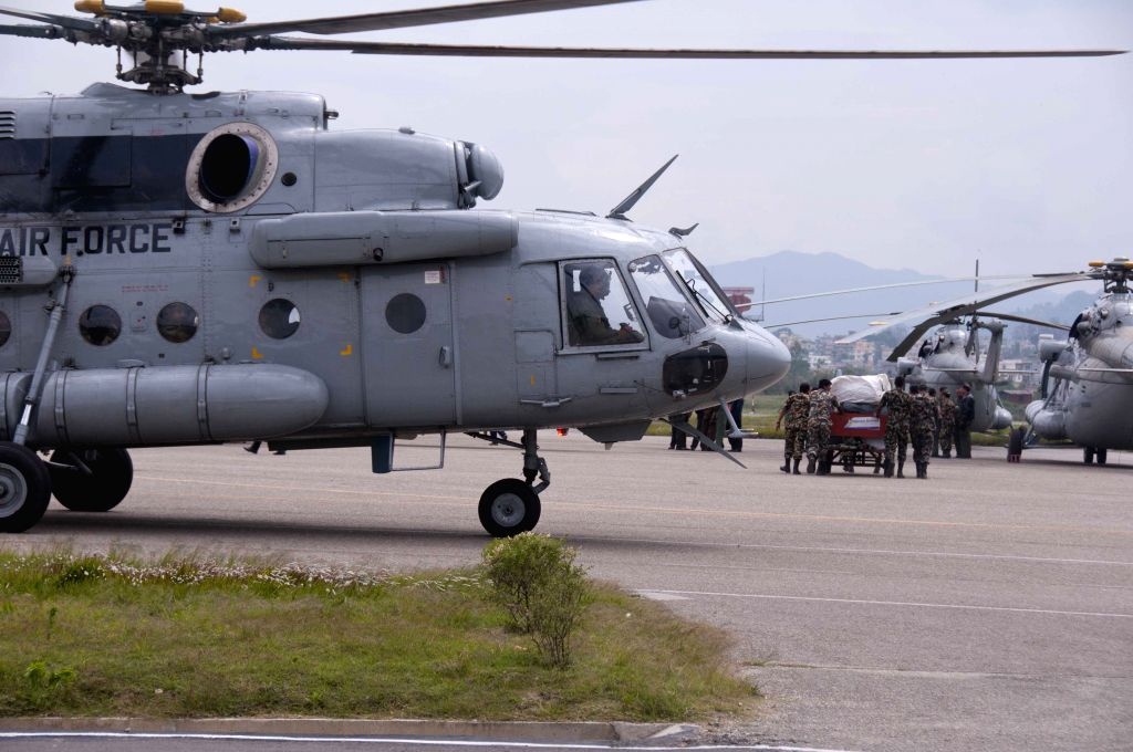 International rescue teams arrive at Tribhuvan International Airport in Kathmandu, Nepal, April 28, 2015. The death toll from a powerful earthquake in Nepal ...