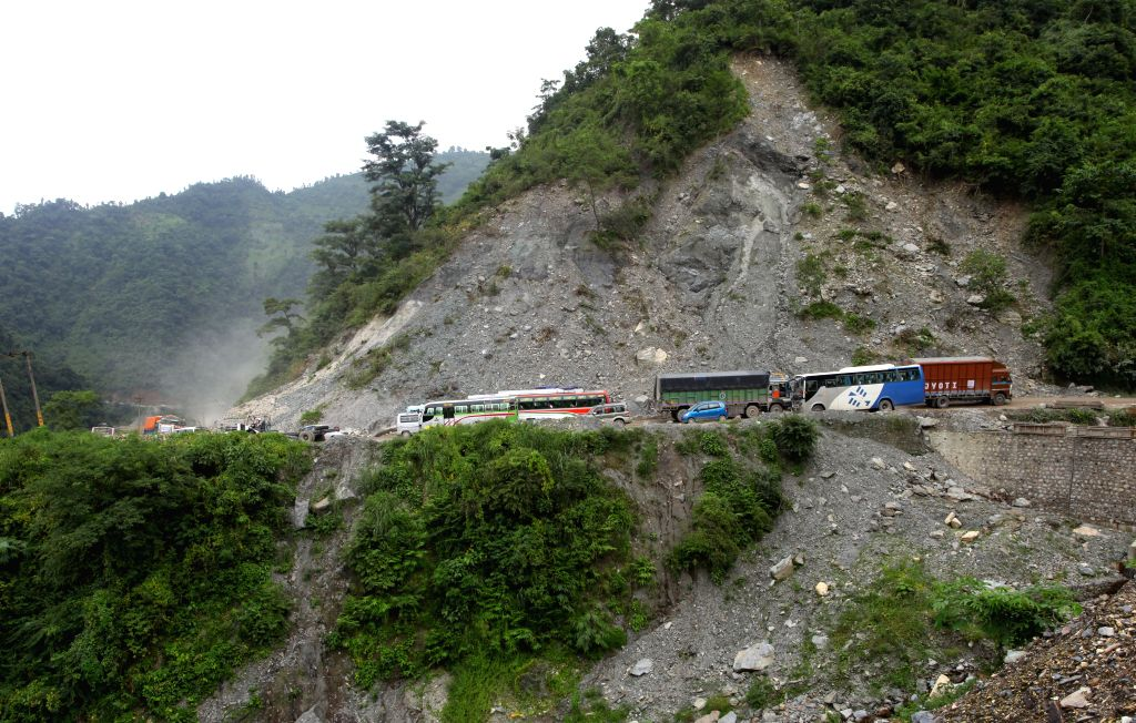 Kathmandu, Aug 14 (IANS) At least 37 people have been reported missing, while 10 others were rescued after a landslide in Nepal's Sindhupalchok district on Friday, according to authorities.