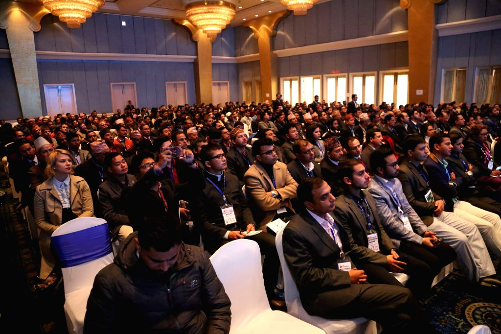 KATHMANDU, Feb. 14, 2019 - Participants attend Nepal Entrepreneurship Summit 2019 in Kathmandu, Nepal, Feb. 14, 2019. The Confederation of Nepalese Industries (CNI), in association with various ...