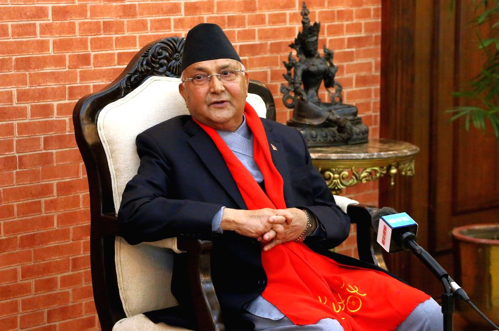 KATHMANDU, Feb. 4, 2019 - Nepal's Prime Minister KP Sharma Oli extends greetings on occasion of Chinese Lunar New Year during an exclusive interview at Prime Minister's residence in Kathmandu, Nepal, ... - K