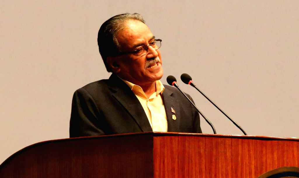 KATHMANDU, July 23, 2016 - CPN (Maoist-Center) Chairman Pushpa Kamal Dahal addresses for appealing the support for the no-confidence motion filed against Prime Minister in the parliament in ...