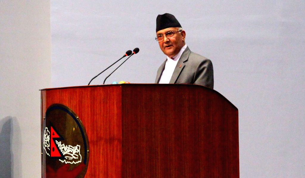 KATHMANDU, July 24, 2016 - Prime Minister KP Sharma Oli informs about his resignation from the post during the discussion of the no-confidence motion filed against him in the parliament in Kathmandu, ... - K
