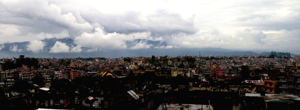 KATHMANDU, July 3, 2016 - Monsoon clouds are seen over Kathmandu, Nepal, July 2, 2016.