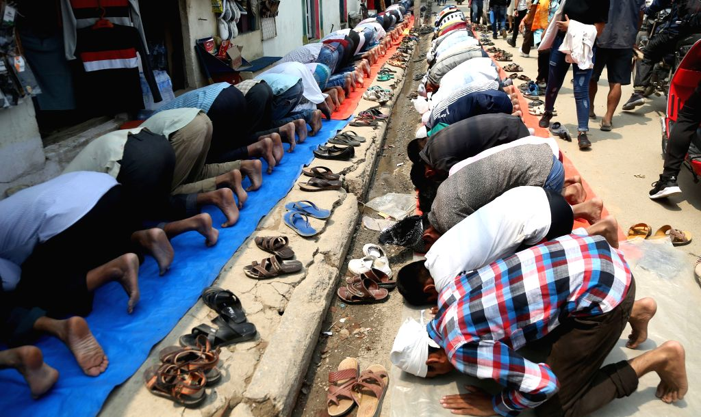 KATHMANDU, May 31, 2019 - Muslim devotees offer prayers during the holy month of Ramadan in Kathmandu, Nepal, May 31, 2019.