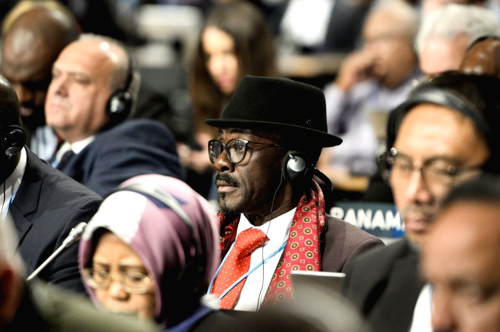 KATOWICE, Dec. 3, 2018 - Delegates attend the UN Climate Change Conference in Katowice, Poland, Dec. 3, 2018. Delegates from nearly 200 countries began talks on Sunday on urgent actions to curb ...