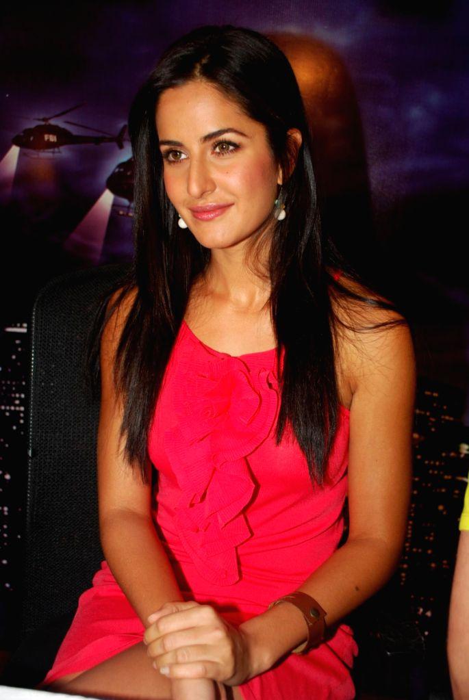 Katrina Kaif at a press meet of the film 'New York' at Yash Raj Studios, in Mumbai.