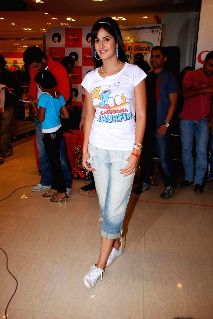 "Katrina Kaif promote her film ""Ajab Prem ki Gazab Kahani"" at Reliance Trends."
