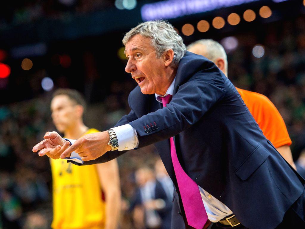 KAUNAS, Nov. 9, 2019 - Head Coach of FC Barcelona Svetislav Pesic reacts during the Euroleague basketball regular season match between Lithuania's Zalgiris Kaunas and Spain's FC Barcelona in Kaunas, ...
