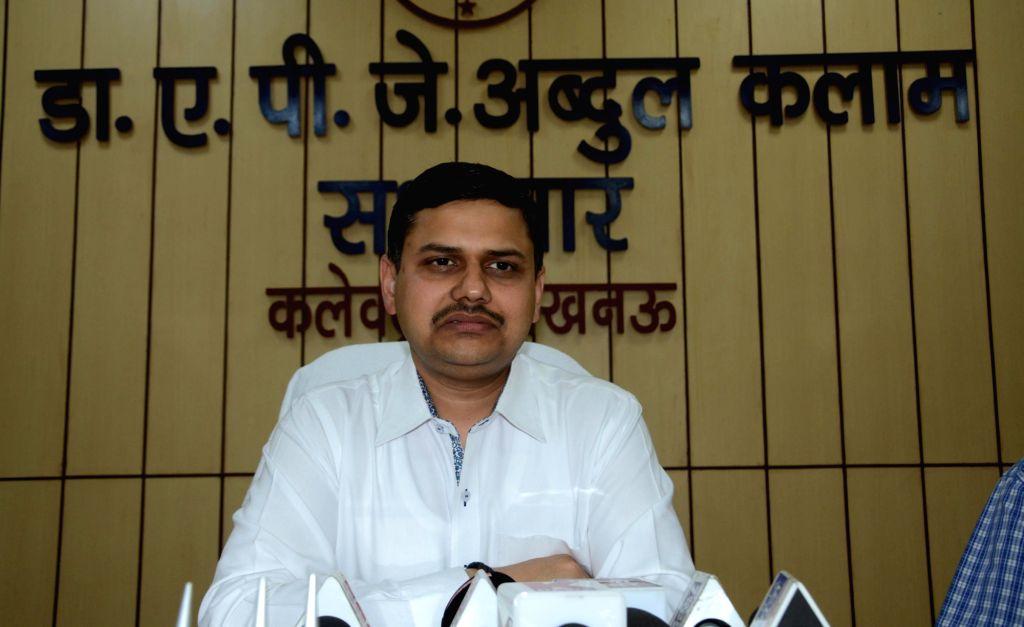 Kaushal Raj Sharma takes charge as the Lucknow District Magistrate in Lucknow on April 29, 2017. - Kaushal Raj Sharma