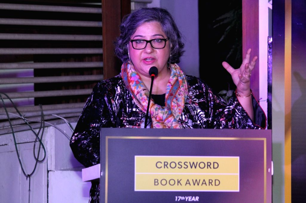 Kaveree Bamzai at the Jury shortlist announcement for the Crossword Book Awards.