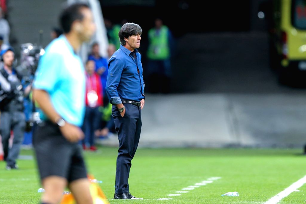 KAZAN, June 23, 2017 - Joachim Loew, head coach of Germany looks on during group B match between Germany and Chile at the 2017 FIFA Confederations Cup in Kazan, Russia, on June 22, 2017. The match ...