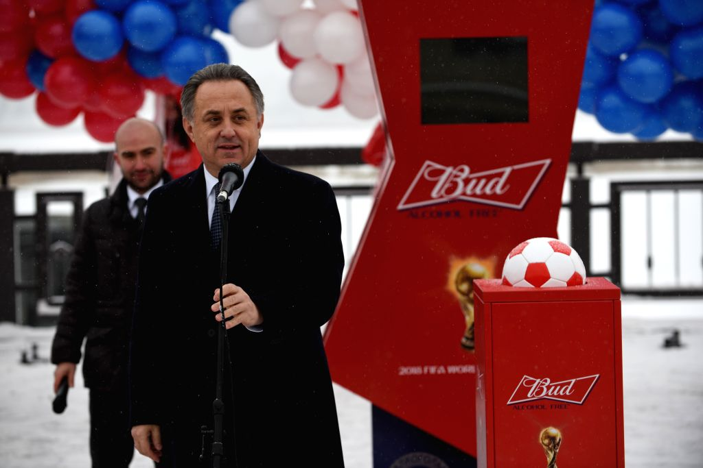 KAZAN , Nov. 26, 2016 - Russian Deputy Prime Minister Vitaly Mutko delivers a speech during the opening ceremony of the countdown clock for World Cup-2018 in Kazan, Russia, on Nov. 26, 2016. - Vitaly Mutko