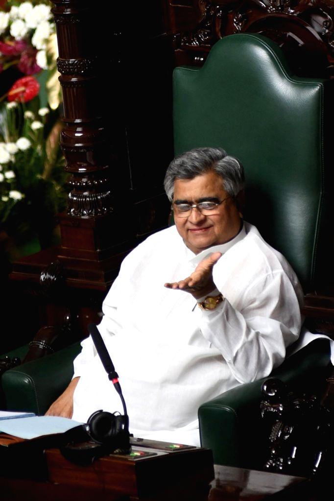 KB Koliwad, newly elected Speaker of Karnataka Legislative at Vidhana Soudha, in Bengaluru on July 5, 2016.