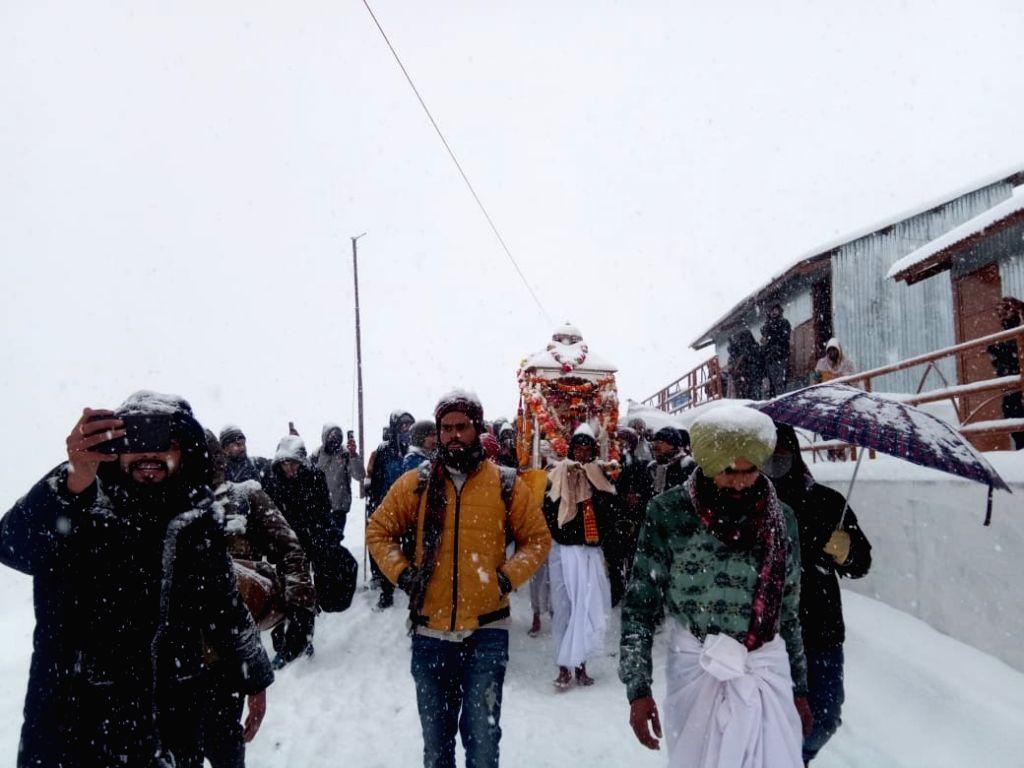 Kedarnath temple closes for winter in Dehradun, Uttarakhand on November 16, 2020.
