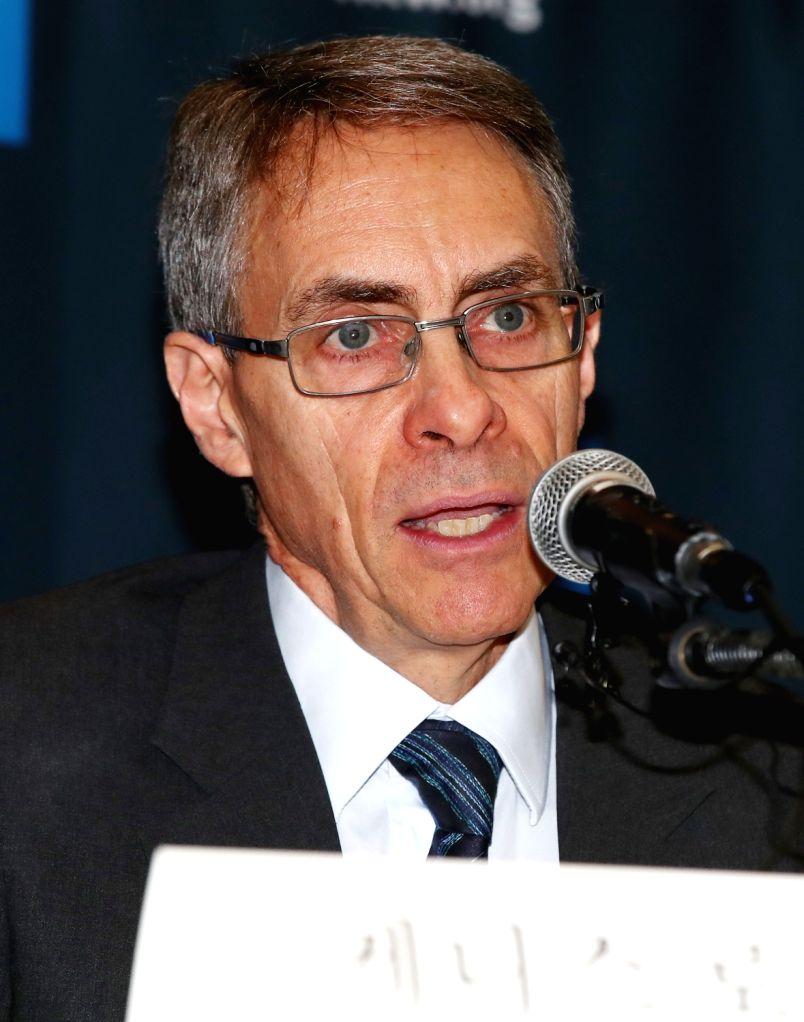 Kenneth Roth, chief of Human Rights Watch, speaks during a press conference in Seoul on Nov. 1, 2018, on the reality of sexual violence in North Korea.