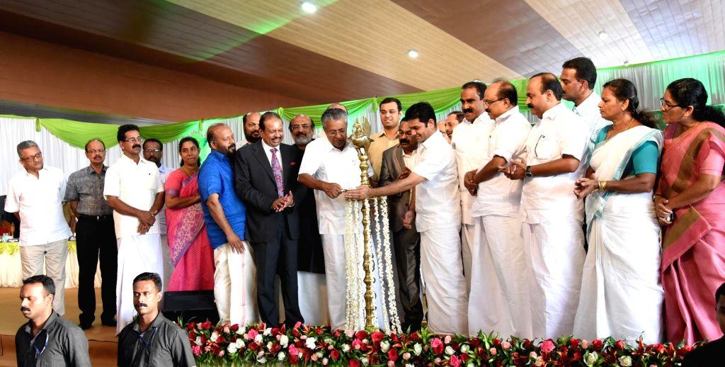 Kerala Chief Minister Pinarayi Vijayan during the inauguration of Cochin International Airport Limited 's (CIAL) new international terminal, T3 on March 11, 2017. - Pinarayi Vijayan