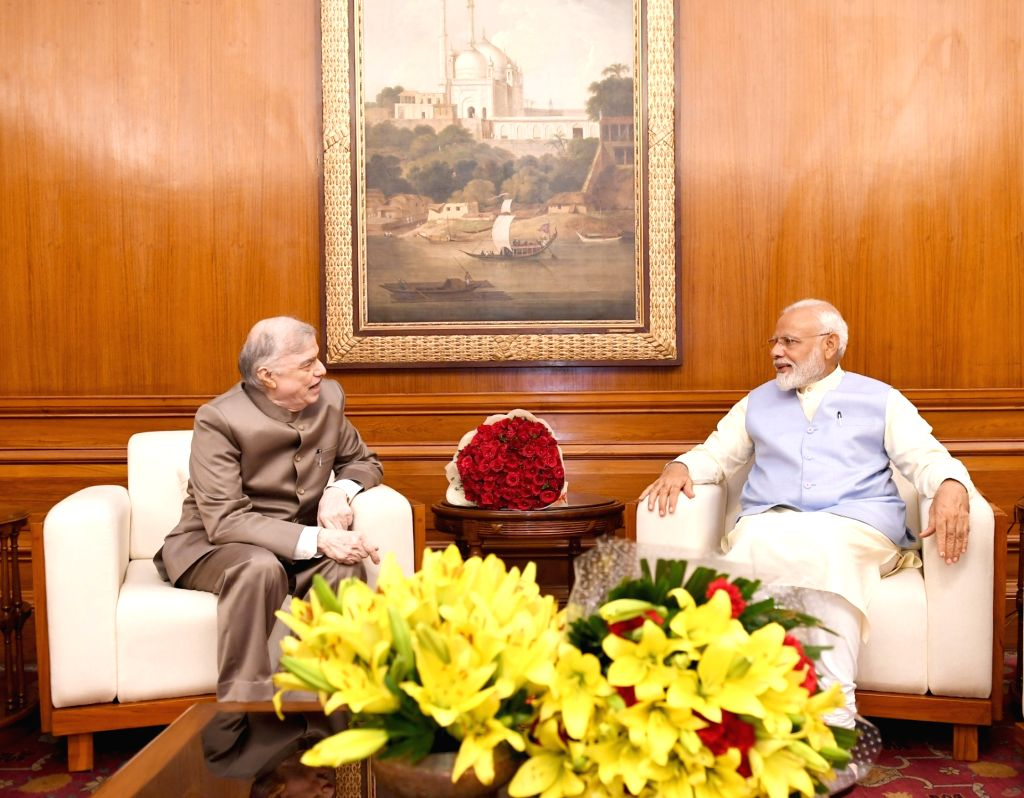 Kerala Governor Justice (Retd.) P. Sathasivam calls on Prime Minister Narendra Modi in New Delhi on May 31, 2019. - Narendra Modi
