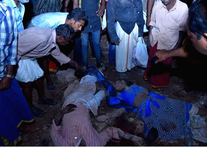 Kerala (Kollam): The victims of Paravur Puttingal temple accident caused by a firework display in which 96 people lost their lives in Kollam district of Kerala, about 60 km from state capital ...