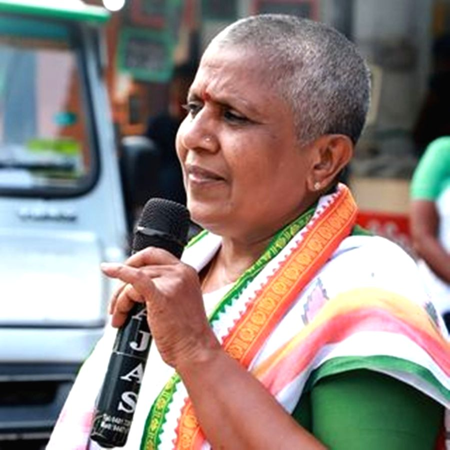 Kerala Mahila Congress' former chief, Lathika Subhash.(photo:Instagram)