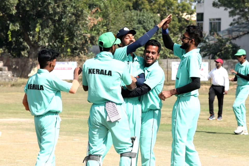 Kerala players during National Blind Cricket Tournament.