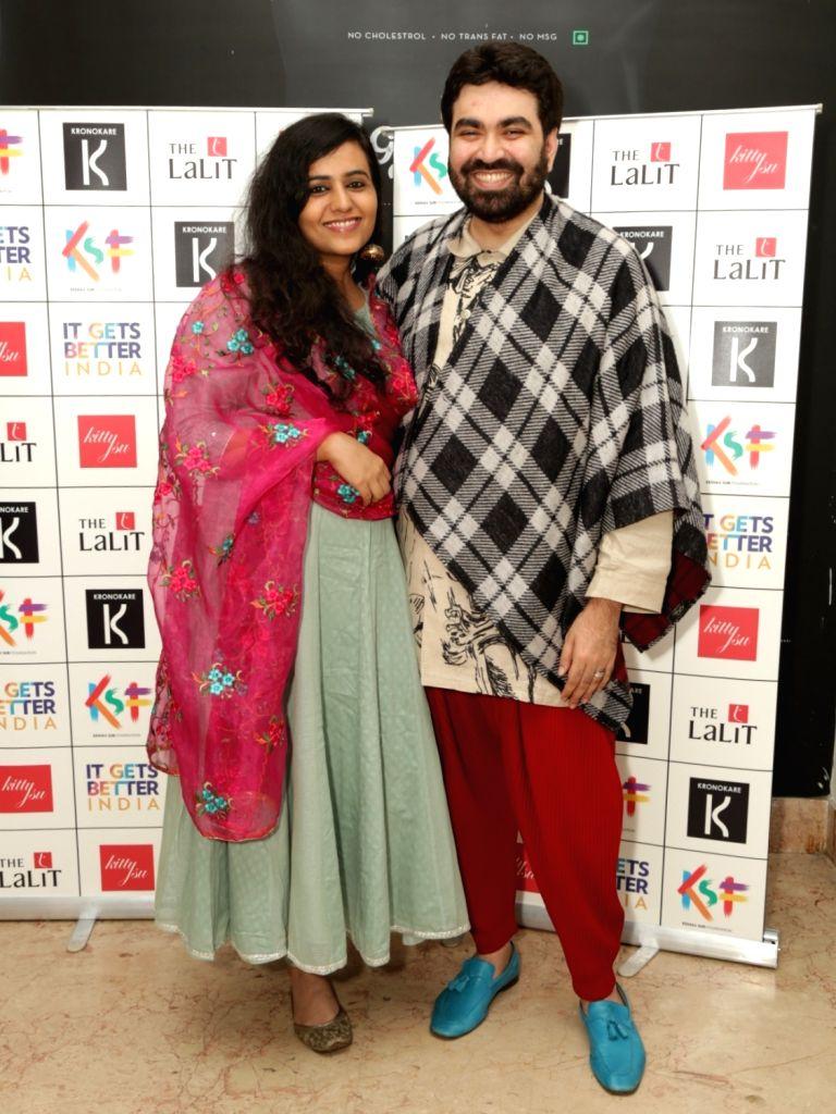 "Keshav Suri Foundation founder Keshav Suri with sceenwriter Gazal Dhaliwal at the special screening of the film ""Ek Ladki Ko Dekha Toh Aisa Laga"" (ELKDTAL) on the eve of ..."