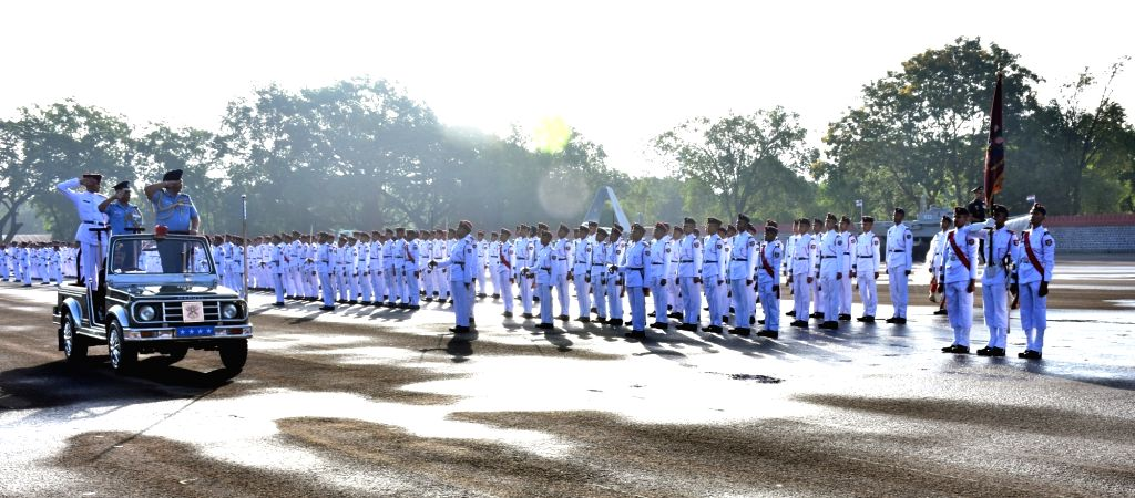 Khadakwasla: Chief of the Air Staff Air Chief Marshal B.S. Dhanoa inspects the Passing Out Parade of 136th Course at the National Defence Academy at Khadakwasla in Maharashtra's Pune on May 30, 2019. (Photo: IANS/DPRO)
