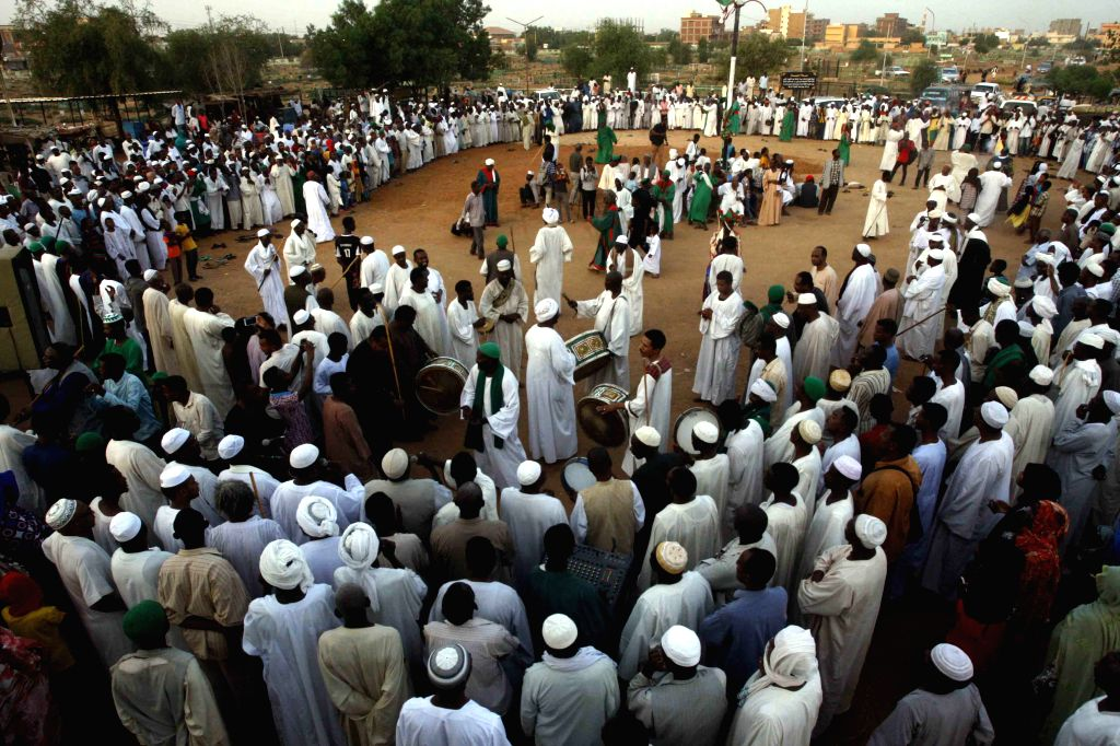 KHARTOUM, Sept. 14, 2018 - People celebrate the Islamic New Year in Omdurman city, Sudan, on Sept. 14, 2018.