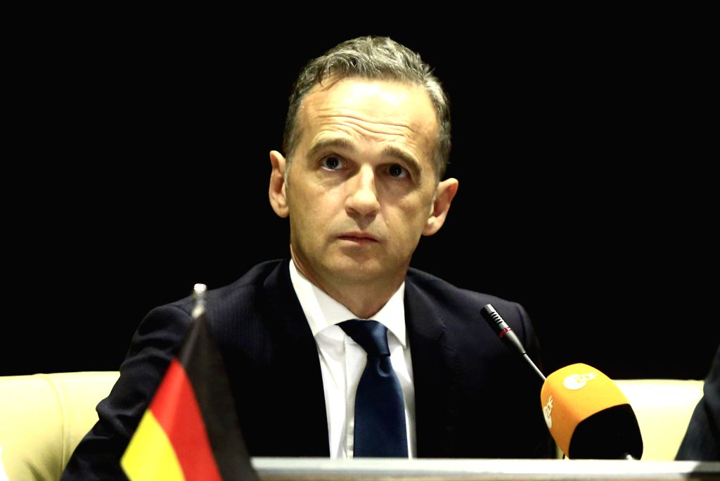 KHARTOUM, Sept. 3, 2019 - German Foreign Minister Heiko Maas attends a press conference with Sudan's Prime Minister Abdalla Hamdok (not in the picture) in Khartoum, Sudan, on Sept. 3, 2019. Sudan's ... - Heiko Maas