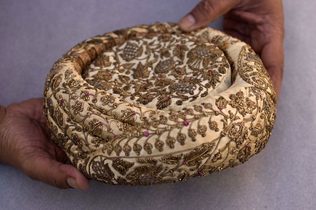 Khoja turban with gold embroidery