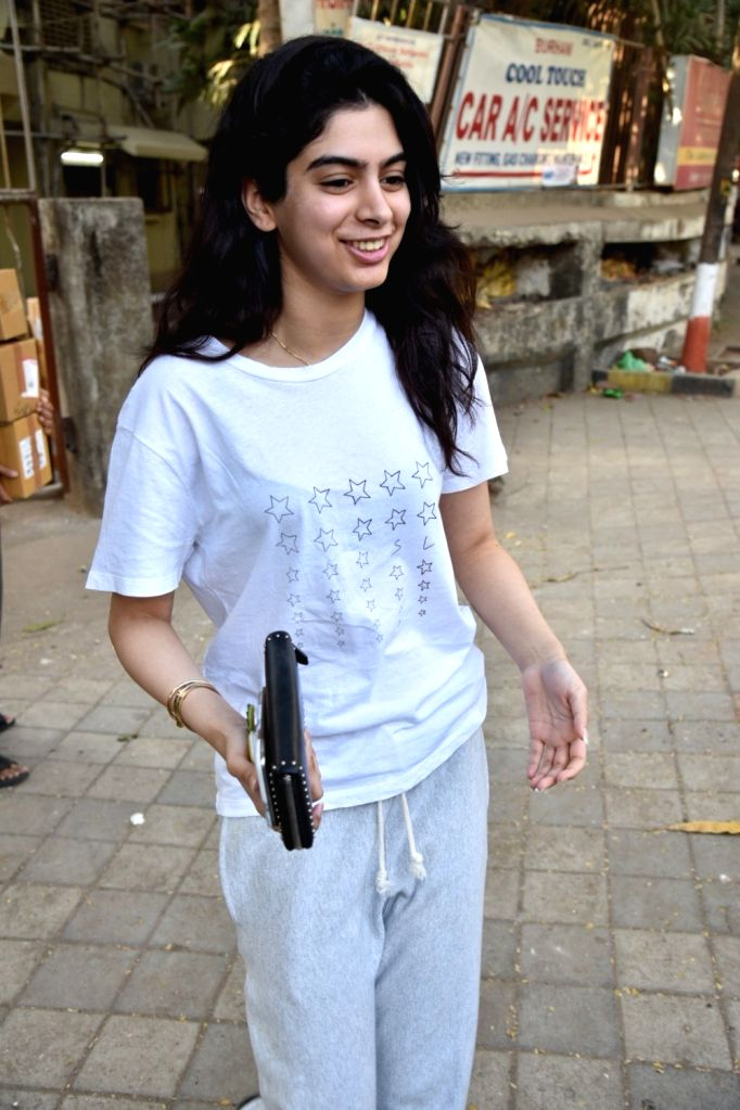 Khushi Kapoor, daughter of producer Boney Kapoor and late actress Sridevi in Mumbai's Juhu , on March 7, 2019. - Sridevi and Khushi Kapoor