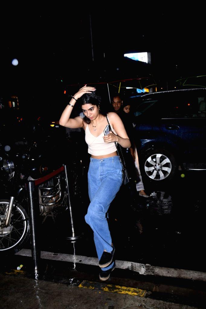 Khushi Kapoor, daughter of producer Boney Kapoor and late actress Sridevi seen at Bandra in Mumbai on July 27, 2019. - Sridevi and Khushi Kapoor