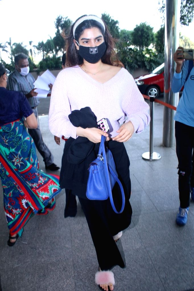 Khushi Kapoor Spotted At Airport Departure 5th March, 2021.