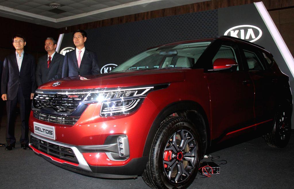 "KIA Motors India CEO and Managing Director Kookhyun Shim at the launch of ""Kia Seltos"", in Bengaluru on Aug 23, 2019."