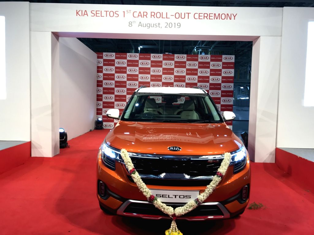 Kia Motors rolls out the production version of its first car for India, the Seltos at its state-of-the-art facility in Anantapur, Andhra Pradesh on Aug 8, 2019.