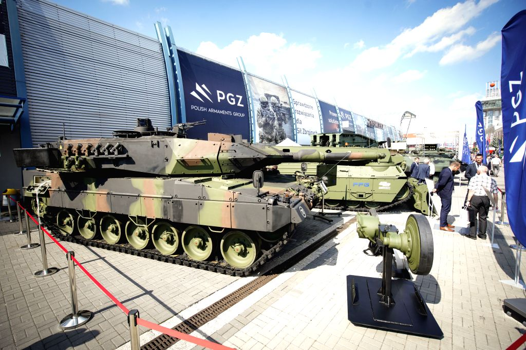 KIELCE (POLAND), Sept. 5, 2019 Tanks are displayed at the 27th International Defence Industry Exhibition in Kielce, Poland, on Sept. 5, 2019. The 27th International Defence Industry ...