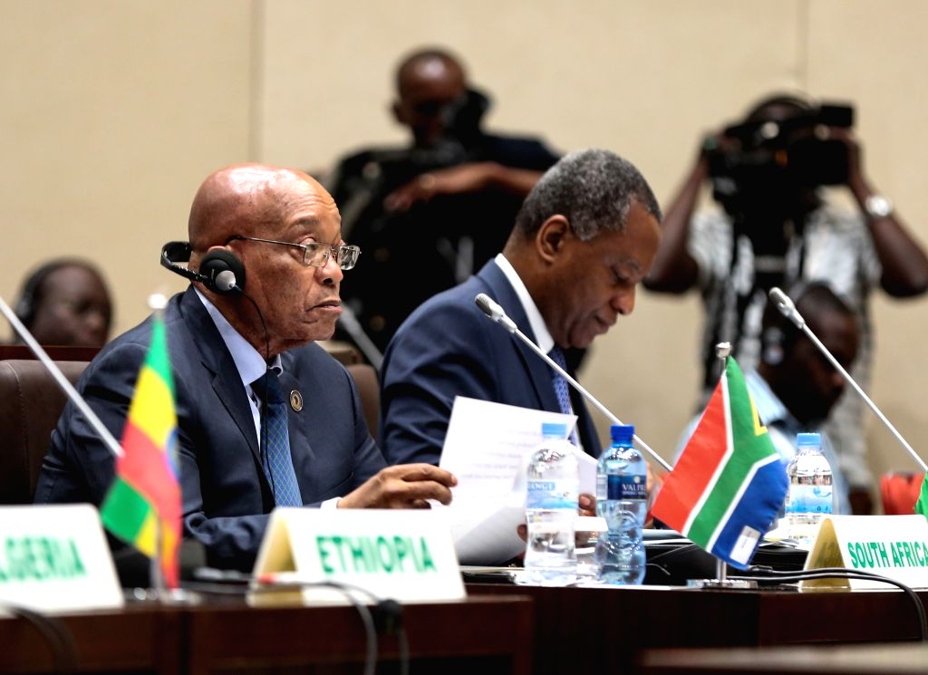 KIGALI, July 16, 2016 - South African President Jacob Zuma (L) attends the 35th New Partnership for Africa's Development (NEPAD) Heads of State and Government Orientation Committee meeting, in ...
