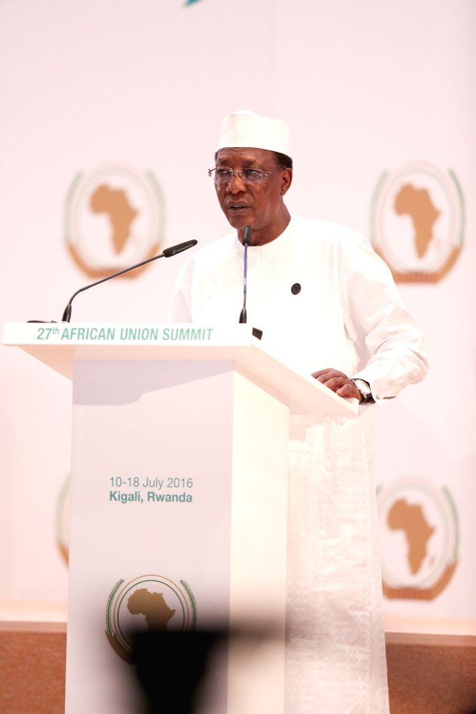 KIGALI, July 17, 2016 - Rotating African Union chairperson Idriss Deby, President of the Republic of Chad, addresses the opening ceremony of the 27th ordinary session of the AU Heads of States in ...