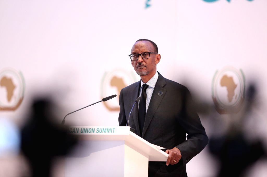 KIGALI, July 17, 2016 - Rwandan President Paul Kagame speaks during the 27th African Union (AU) Summit as it opened in Kigali, Rwanda, July 17, 2016.