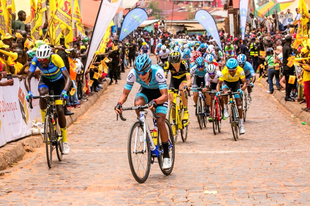 KIGALI, March 4, 2019 - Athletes compete during the 11th Tour du Rwanda international cycling competition, in Kigali, capital of Rwanda, on March 3, 2019.